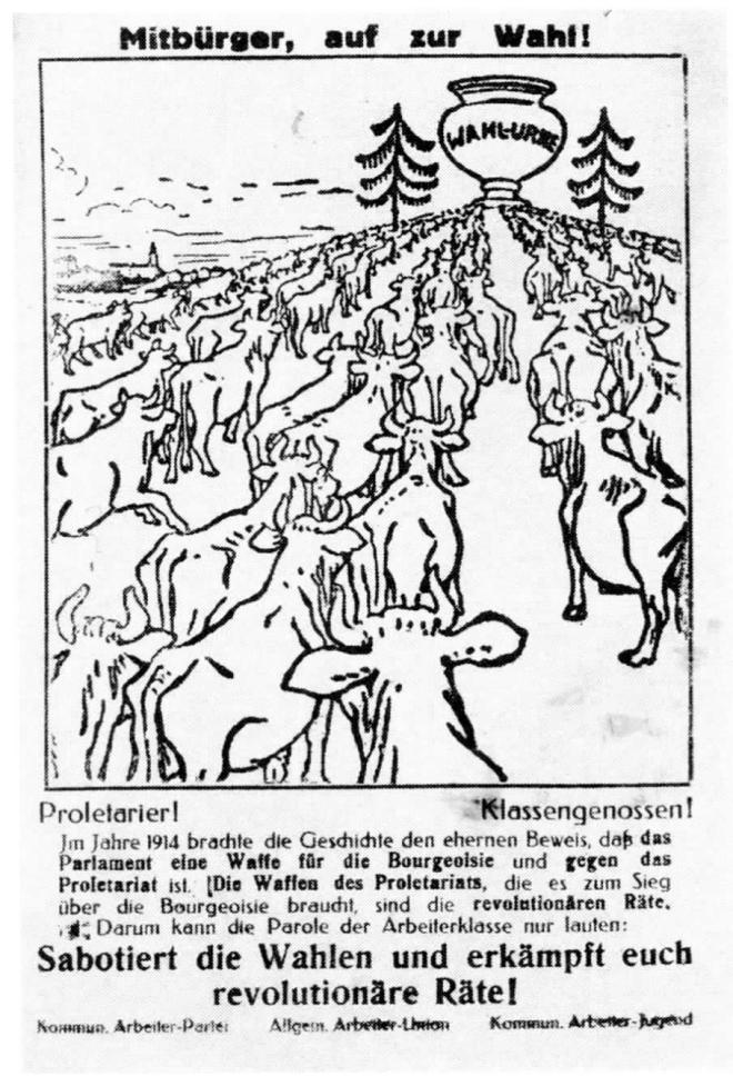 Flugblatt der KAPD zu den Wahlen von 1922