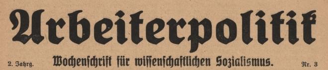 Arbeiterpolitik-Bremen-1917